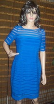 ADRIANNA PAPELL  Shutter Solid Bodycon Dress navy blue Size 8 $160 NWT - $83.09