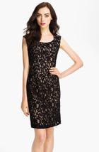 Adrianna Papell Cap Sleeve Lace Sheath Dress sz 12 NWT - $113.58