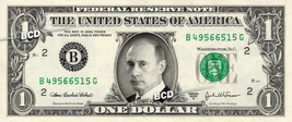 VLADIMIR PUTIN on REAL Dollar Bill - Cash Money Bank Note Currency Dinero - $4.44+