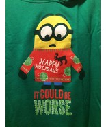 Holidays Could Be Worse Minions Sweatshirt Despicable Me Universal XXL G... - $23.36