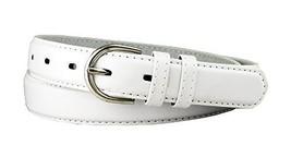 Solid Color Dress Leather Adjustable Skinny Belt for Women (White, Large) - $5.93