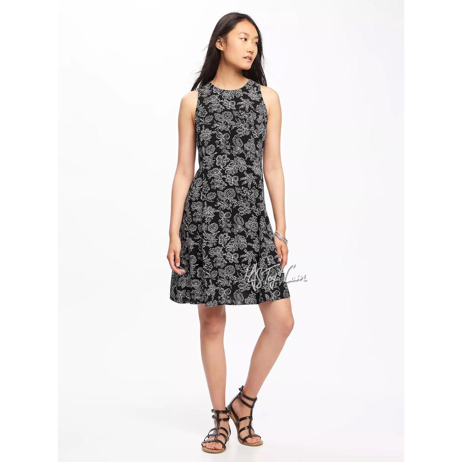NWT OLD NAVY Cute Soft Stylist Women's Sleeveless Summer Swing Petite Dress S/P - $29.99