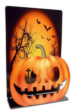 Jack-O-Lantern Pumpkin Scary 3D Table Topper Halloween Decorative Metal ... - $14.95