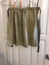 yellow checked childs costume apron for pioneer costume Civil War HALLOWEEN - $9.90