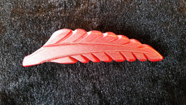 "Vintage Bakelite Carved Red Leaf Brooch 3"" in Gift Box - $39.99"