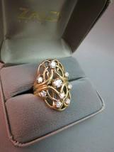 VTG 14k Yellow Gold 8 Diamond Cocktail Ring 1.19 CTTW FGH 11.96g Apprais... - $4,949.99