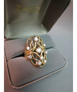 VTG 14k Yellow Gold 8 Diamond Cocktail Ring 1.19 CTTW FGH 11.96g Apprais... - $4,949.99