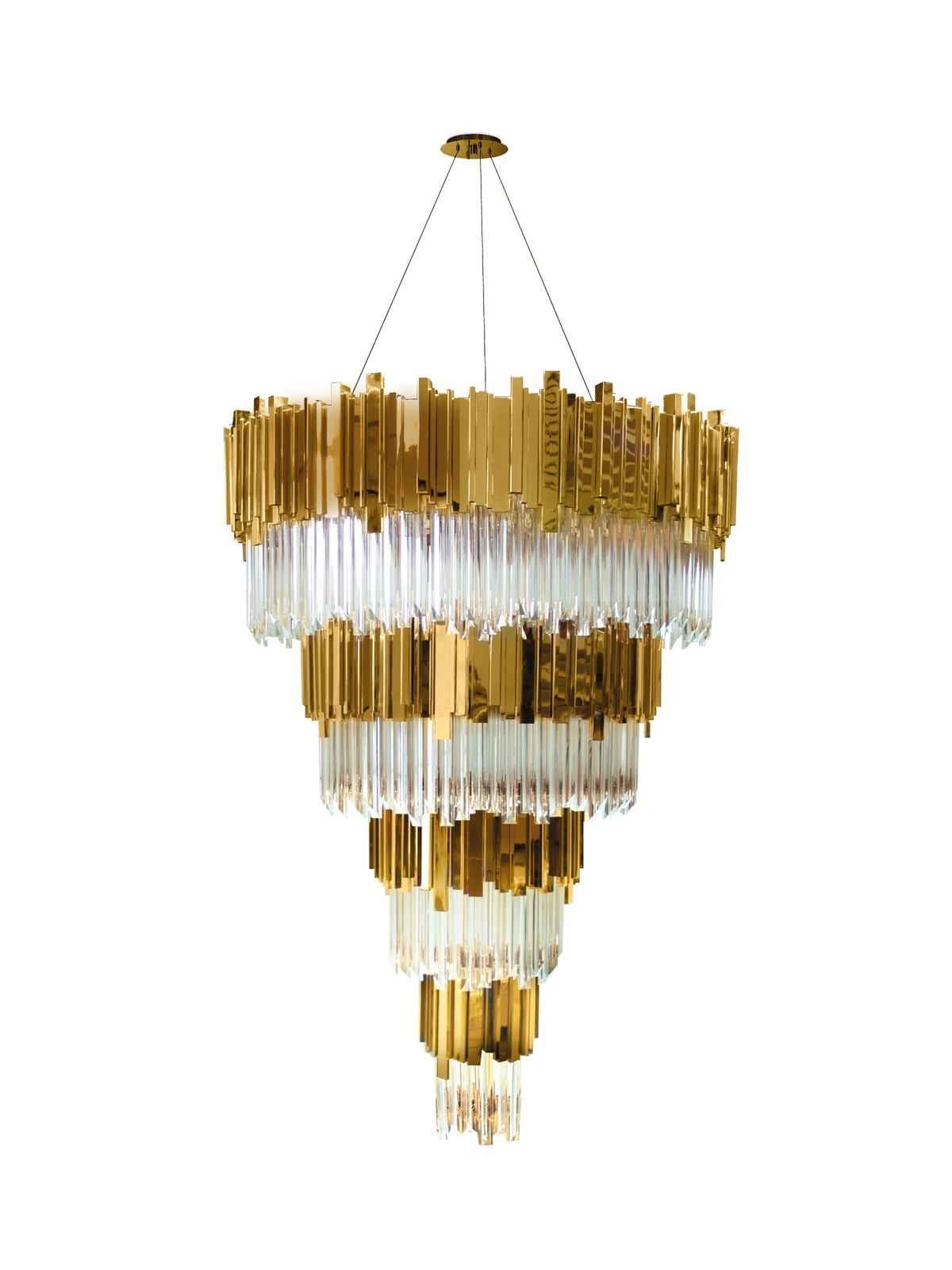 "Primary image for VK4023: LUXXU ""Empire"" Venetian Crystal Glass Chandelier (36""-71"" H) $3,386+"