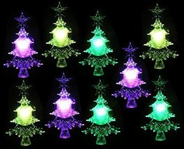 LED Christmas Tree Color Changing Lights - Set of 9 - Suction Cups for H... - $42.99