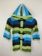 Gymboree 4 Hide And Seek Green Blue Stripe Toggle Sweater Duster Caridgan - $17.99