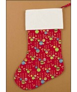 Red Large Amy Christmas Stocking ornaments pre-finished cross stitch sto... - $19.00