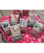 Christmas On The Farm cross stitch chart Designs by Lisa - $7.20