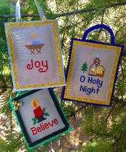 O Holy Night christmas cross stitch chart Pickle Barrel Designs - $7.20
