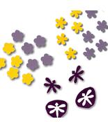 Die Cuts Blossoms Dragonflys Mini Purple Yellow... - $1.00