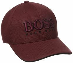 New Hugo Boss Men's Pique Logo Adjustable Trucker Sport Hat Cap 50251244 image 6