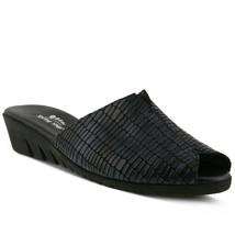 Spring Step Dejen Slide Sandal Navy Croco, Size 38 EU / 7.5 US - $49.49