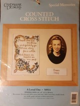 Special Memories Counted Cross Stitch Kit A Loved One Candamar Designs 5... - $11.87