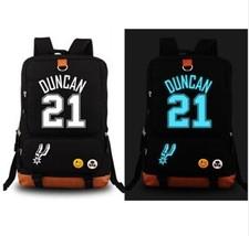 Basketball Player Duncan San Antonio Spurs Team Luminous Backpack School... - $62.99