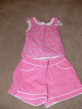 Girls Summer Outfit BCX Girls Gymboree Tank Shirt & Shorts Pink Size 4T ek - $6.50