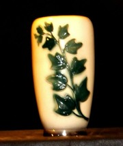 Cream Ceramic Vase with green vine  AA19-1598 Vintage image 2