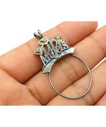 """925 Sterling Silver - Vintage """"Lil Angels"""" Charm Ring Pendant - P2715 - $30.64"""