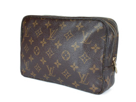 Auth LOUIS VUITTON TROUSSE TOILETTE 23 Monogram Canvas Cosmetic Pouch Ba... - $169.00
