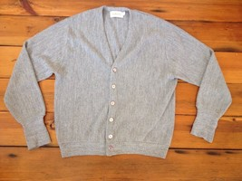 Vintage 90s Grunge Heather Gray Button Up Cardigan Grandpa Acrylic Sweat... - $27.99