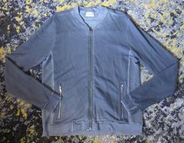 $250 Mens Cotton Citizen Sweatshirt Bomber Jacket in Faded Navy Blue sz L - $105.93