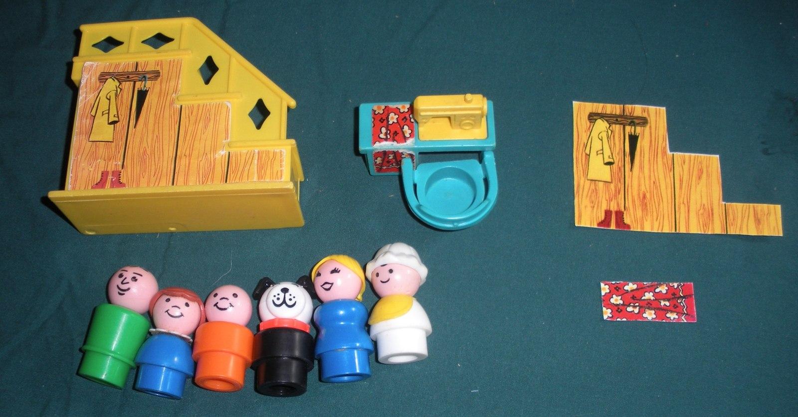 Vtg. Fisher Price Little People #952 Yellow House Comp.+ BONUS/ EXC++-NR MT  (P) image 2