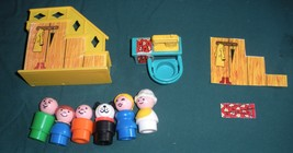 Vtg. Fisher Price Little People #952 Yellow House Comp.+ BONUS/ EXC++-NR MT  (P) image 2