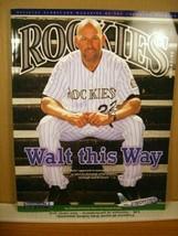Rockies Scorecard Magazine Vol 21 No 5 July 2013 Walt Weiss - $8.99