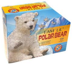 I Am Lil Polar Bear 100 Piece Jigsaw Puzzle 30x25 Animal Shaped Poster S... - $21.99