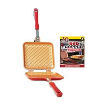 Red Copper Double-Coated Flipwich Non-Stick Grilled Sandwich and Panini ... - €19,55 EUR