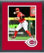 Alex Blandino 2018 Cincinnati Reds Action -11x14 Team Logo Matted/Framed... - $43.55