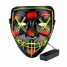 Topselect Halloween LED Mask Light up Mask Cosplay LED Mask Frightening ... - £10.53 GBP