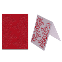 (white)Flower pattern Plastic Embossing Folder Cutting Dies Template Dec... - $14.00