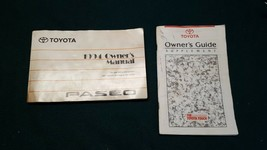 1994 Toyota Paseo Owner's Owners Manual No Case Part No. 01999-16475 - $20.37