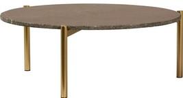 Coffee Table DOVETAIL ABRUKA Rough-Edge Top Brass White - €670,43 EUR