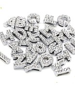 Ginooars 52pcs A-Z Full Rhinestones 8mm Slide Alphabet Letters for 8mm S... - $10.43