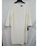 Liz Claiborne 3/4 Bell Sleeve Textured Knee Length Cream Dress Sz.16 NEW... - $31.81