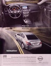 "2008 Nissan Maxima Car Ad ""Never Lost Never Late"" Magazine Advertisement - $4.99"