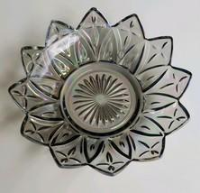 "Vintage Federal Glass Smoke Iridescent Carnival Glass Bowl 6"" Diameter - $19.99"