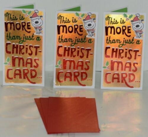 Hallmark XMH 182 4 Puppy Mistletoe Christmas Gift Card Holder Package 3