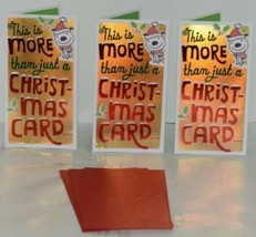 Hallmark XMH 182 4 Puppy Mistletoe Christmas Gift Card Holder Package 3 image 1