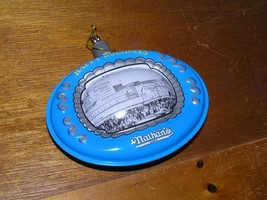 Vintage Reproduction Blue & Gray Tin Metal NATHAN'S in Chicago Christmas Tree image 2