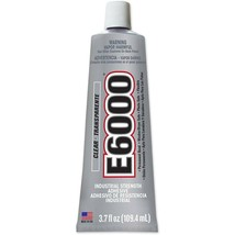 E6000 Craft Glue Adhesive Industrial Strength Bond Paintable 3.7 Oz Tube, Clear image 2
