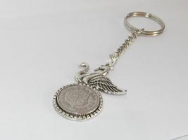 25h geburtstag silberhochzeit 5p münze schlusselring vogel aus 1992 - $10.40