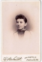 Lilla Munroe Grouse Cabinet Photo of Young Woman - Portland, Maine - $17.50