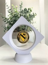 """3D Floating Display Us Army 1st Cavalry Division """"The First Team"""" Challenge Coin - $23.65"""