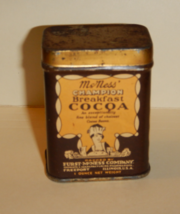 Mc Ness Champion Breakfast Cocoa Tin Full 1920's Antique  - $45.00